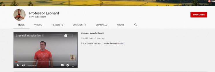 best youtube math channels professor leonard