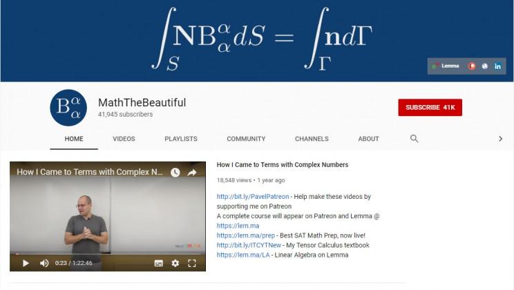 math youtube channels maththebeautiful