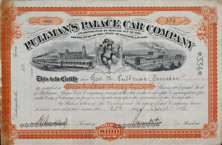 Pullman Palace Car Company share