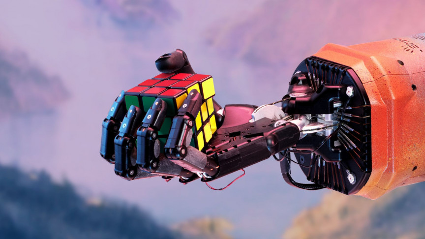 A Human-like Robotic Hand is Able to Solve the Rubik's Cube