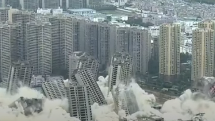 Watch 15 Skyscrapers Blow Up Simultaneously In Mass Demolition