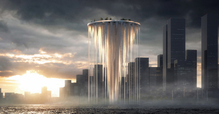 Ethereal Tower with 99 Floating Islands Designed For Shenzhen, China