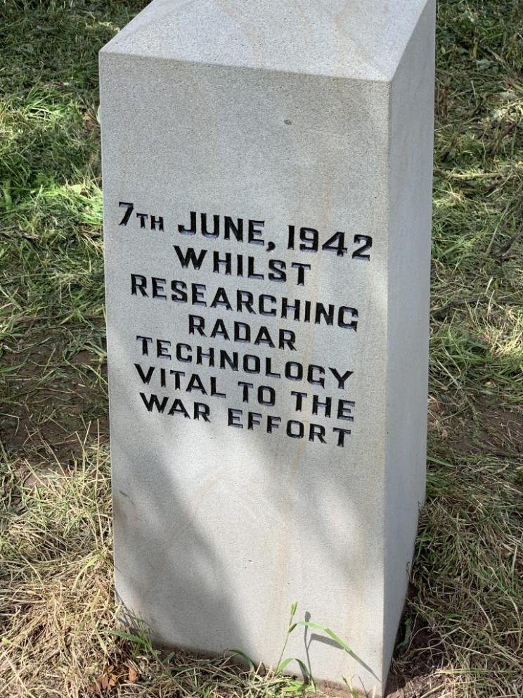 memorial stone on halifax crash site