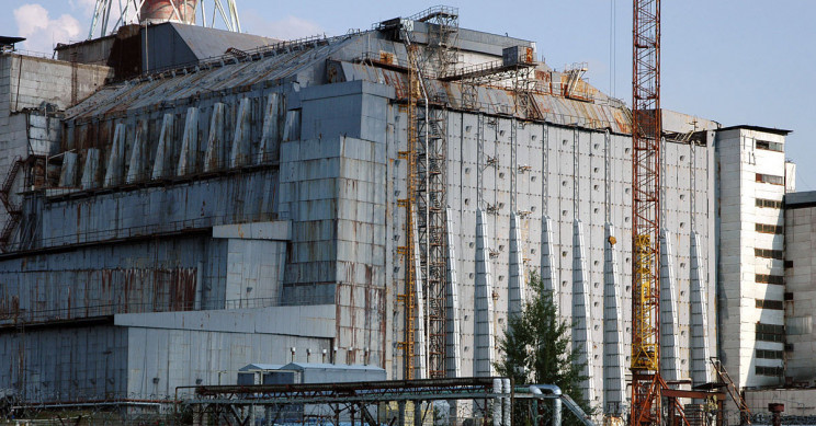 The Chernobyl 'Sarcophagus' Housing The Nuclear Reactor That Melted Down In 1986