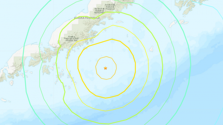 8.2 Magnitude Earthquake off Alaska Triggers Tsunami Warning