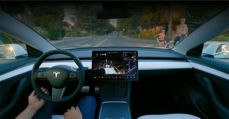 Tesla's Full Self Driving Functionality Being Shown Off During Tesla's AI Day
