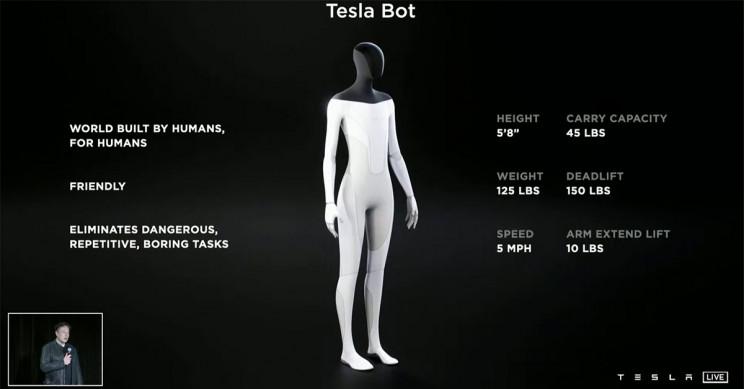 Tesla Bot Stats