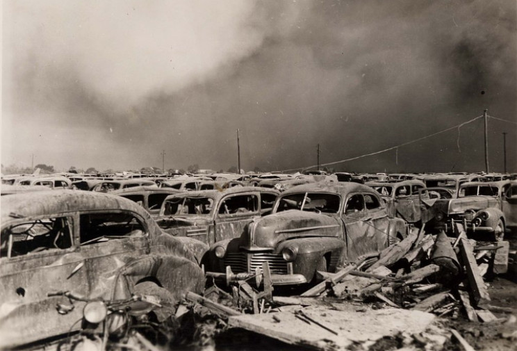Texas City cars destroyed