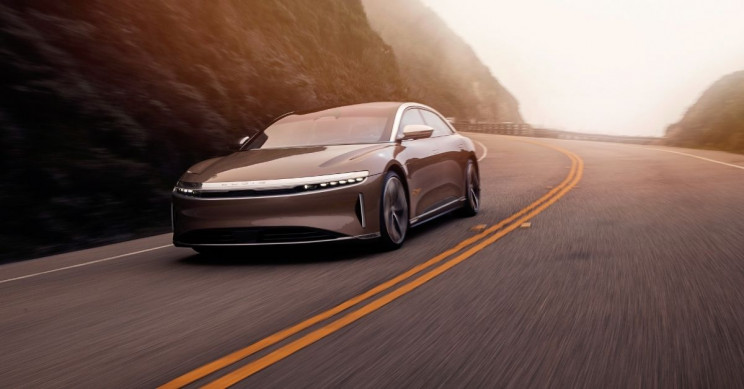 Lucid Motors Lucid Air On Road