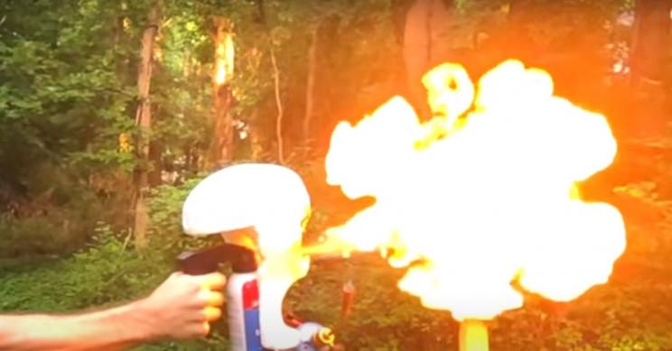 Uncle Rob COVID-19 Mask Blowtorch YouTube Big Burn