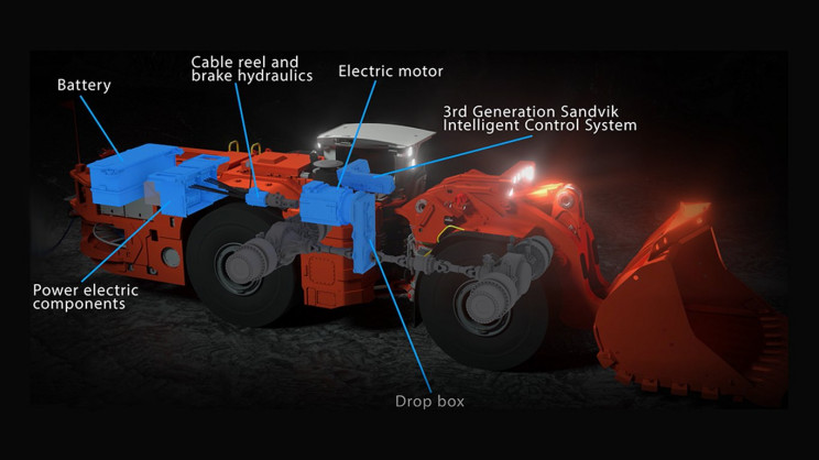 schematic of elec mining loader