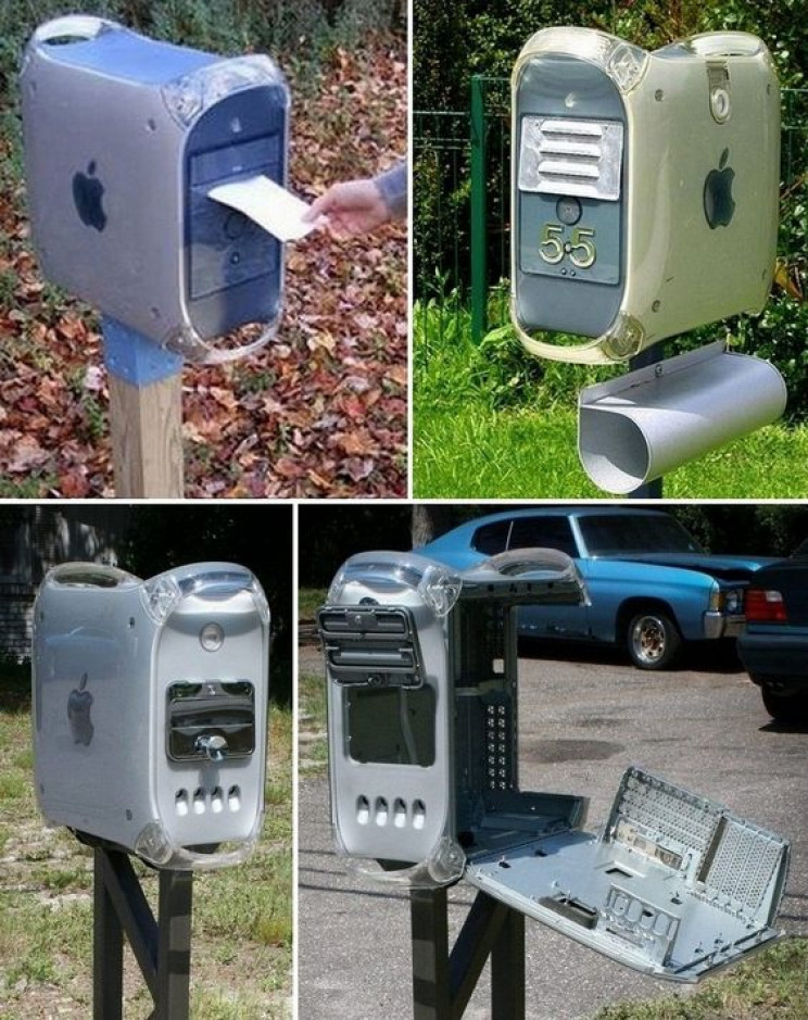 reuse old stuff mac mailboxes