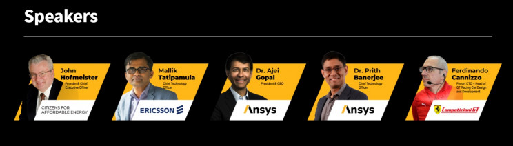 ansys simulation world speakers
