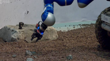 ESA Makes Robotics History With Rock Sampling Gripper Controlled from Space