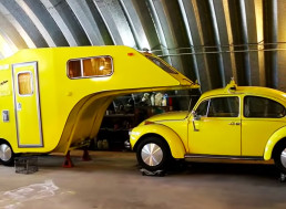 Unique Volkswagen Beetle Camping Trailer Found and Restored