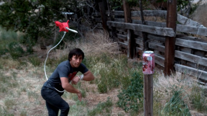 Man Destroys Targets Mortal Kombat Style With a Rope Dart