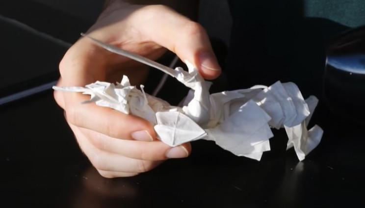 diy origami samurai move arms and legs