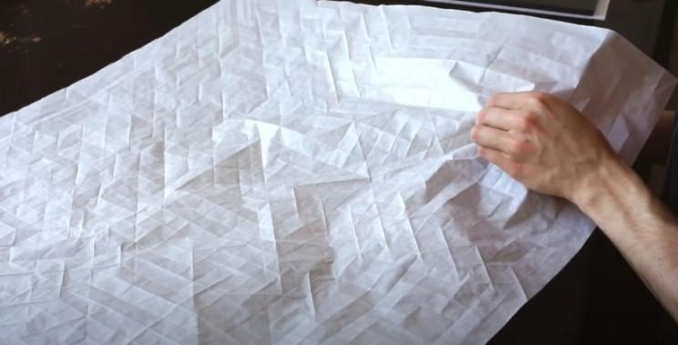 diy origami samiurai diagonal precreases