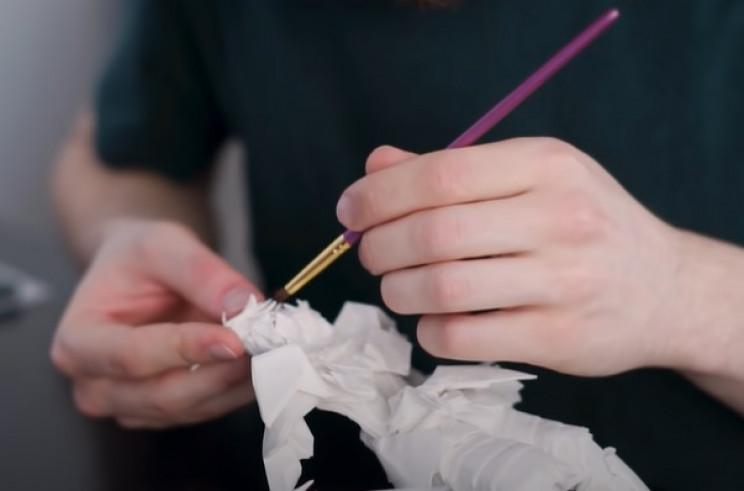 diy origami samurai face wet