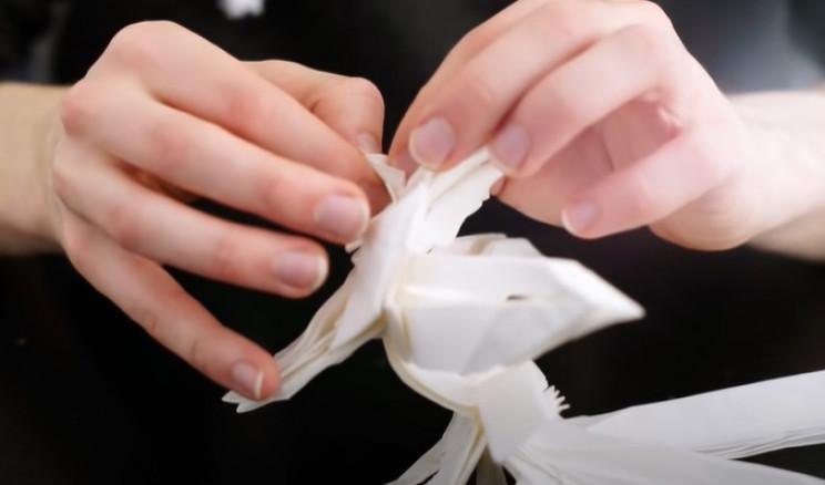 origami samurai face