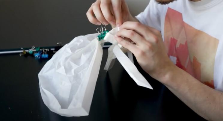 diy origami samurai torso