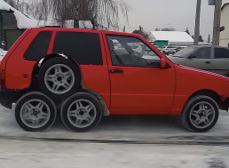 This Fiat Car Has Four-Too-Many Wheels and Still Works Perfectly