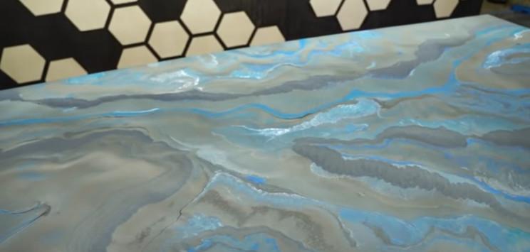 epoxy tabletop complete