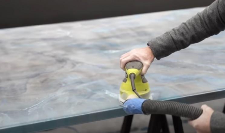 epoxy tabletop buff