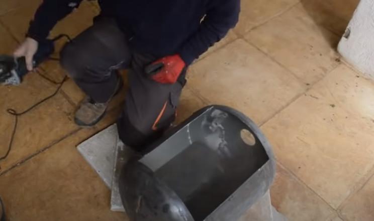 diy tie burner cut cylinder