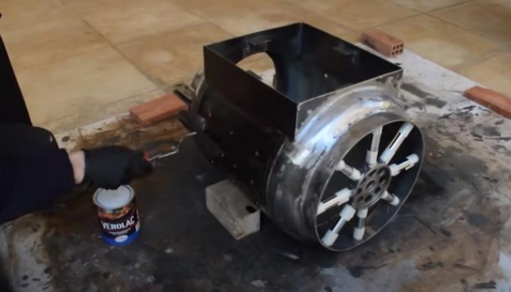 diy tie burner paint