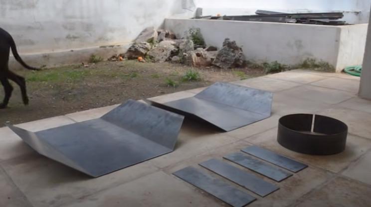 diy tie fighter burner steel pieces
