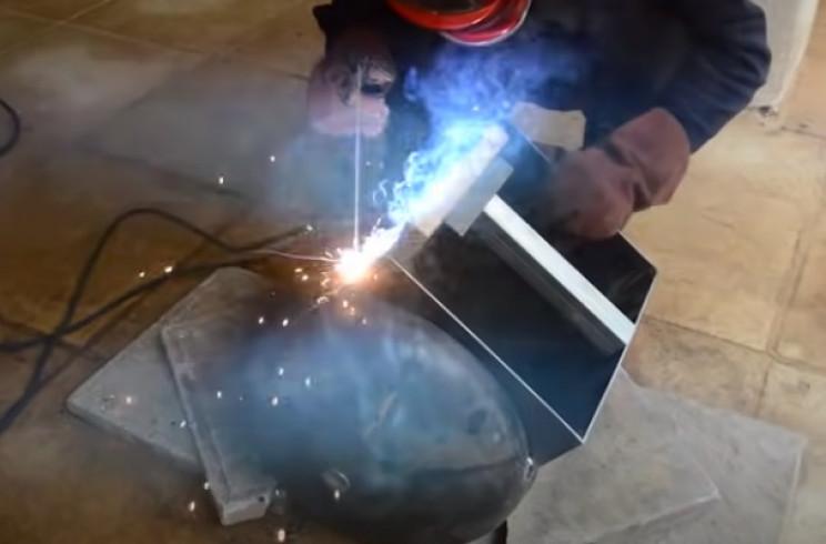 diy tie burner weld frame