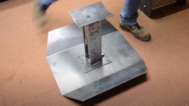 diy tie burner weld struts to wings