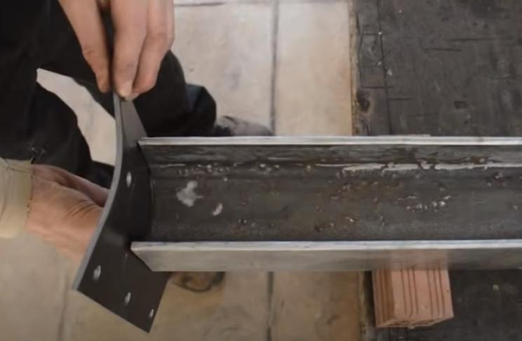 diy tie burner curved end of struts