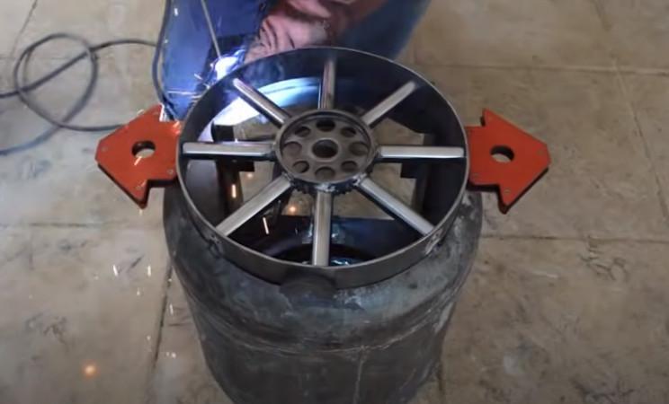diy tie burner weld cockpit