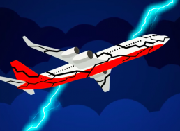 This is Exactly What Happens When Lightning Strikes a Plane