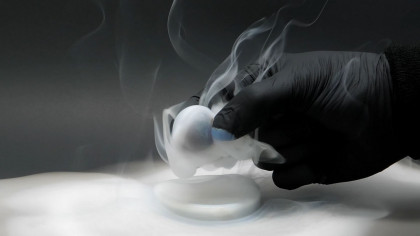 Chemist Dips a Ball in Titanium Tetrachloride To Make the World's 'Smokiest' Ball