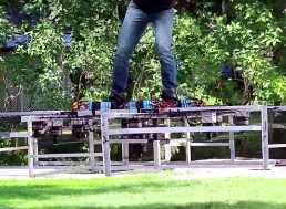 Building a Green Goblin-Esque Hoverboard Using 10 Electric Motors