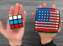 Guy Recreates Flags of Over 50 Different Countries on Rubik's Cubes