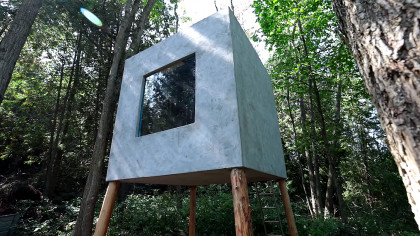 This Tiny House Cube in the Middle of the Forest Is a Must-See