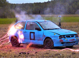 Poor Car vs. 70 Detonators: Watch What Happens