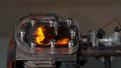 Running a Transparent Engine on Gunpowder Causes Explosion