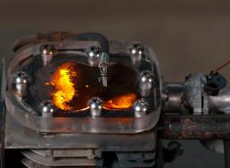 Running a Transparent Engine on Gunpowder Causes Explosion