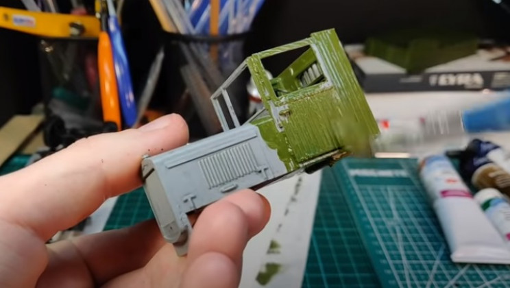 diy truck begin painting
