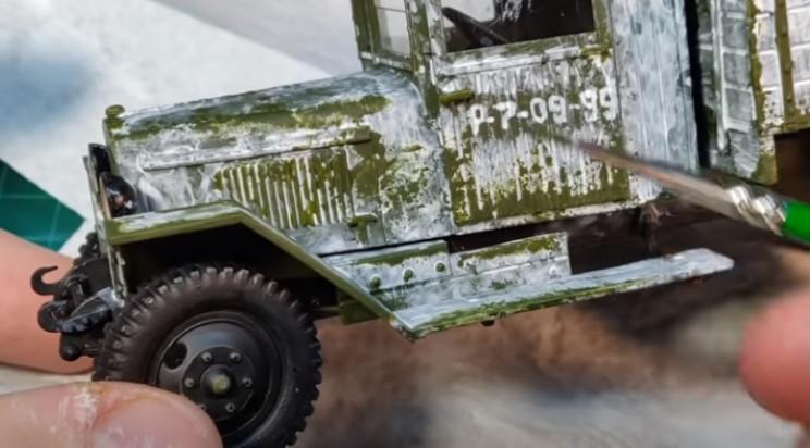 diy truck winter camo green