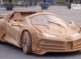Build Your Own Hand-Carved Wooden Bugatti CR7 Car