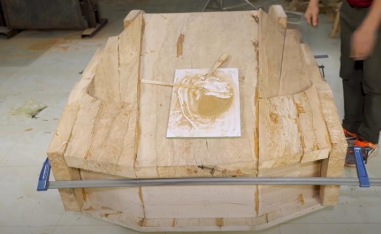 diy wood bugatti bonnet complete