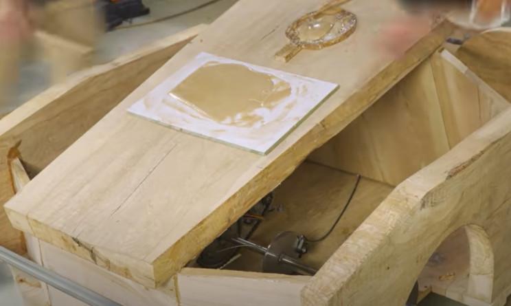 diy carved bugatti bonnet