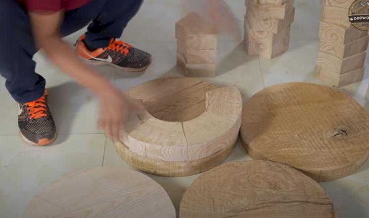 diy carved wood bugatti build up wheels