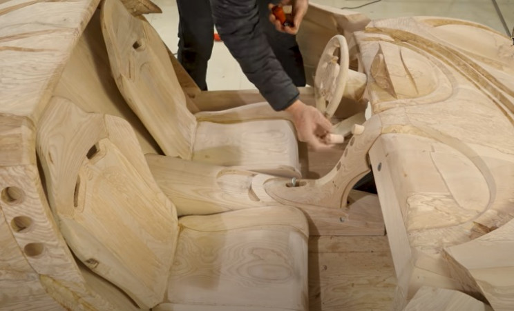 diy wooden bugatti internal features